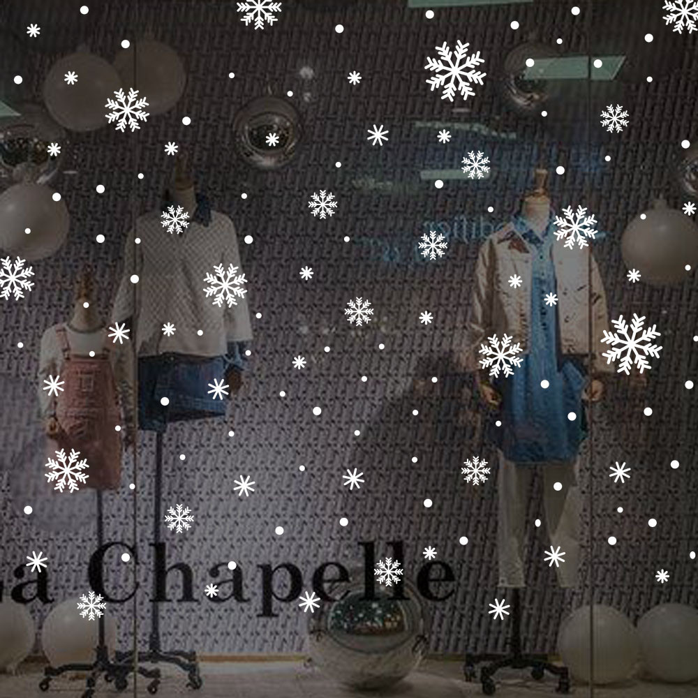 Christmas snowflake wall Window Stickers Angel Snowflake Christmas Xmas Vinyl Art Decoration Decals 2O81107