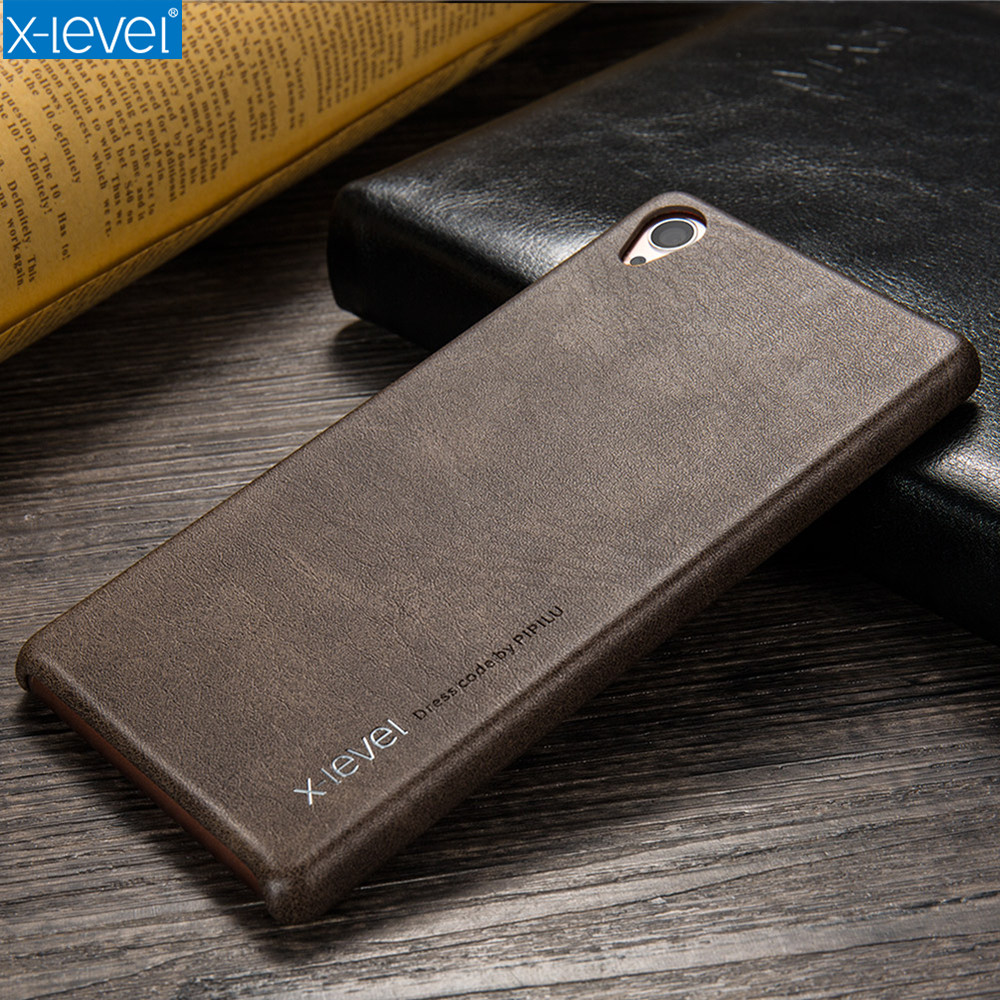 outlet store d9be4 97ad9 US $9.43 |X Level PU Leather Case For Sony Xperia Z3 Back Cover For Sony Z3  Vintage Luxury Phone Cases Ultra Thin Light Full Protective -in Fitted ...