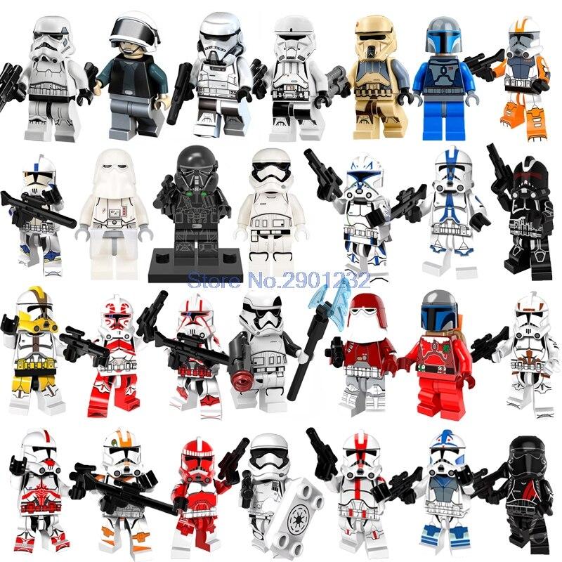 Star Wars Army Stromtrooper Clone Sith Darth Vader Minifigures Kids Toy Blocks