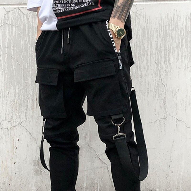 Hip Moda Pantalones Los Carga Cintura Elástico La Bailando Multi Calle Bolsillos De Hombre Hombres Alta En Harem hop xzIzqCnAv