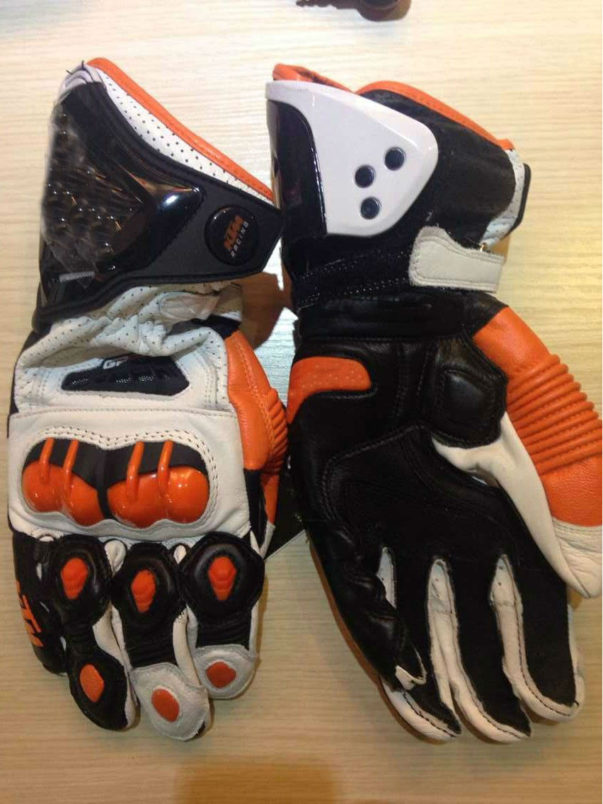 Mens leather gloves black friday - 2015 New Ktm Gp Pro Motorcycle Gloves Real Leather Road Racing Glove Black White Red Moto