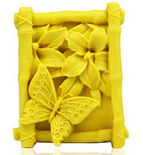 Silicone soap mold butterfly Flower Pattern Rectangle Soap Making Mold