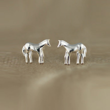 100% 925 Sterling Strong Silver Jewellery Womens Vogue Tiny Cute Animal Stud Earrings Women birthday Present DS91 free transport