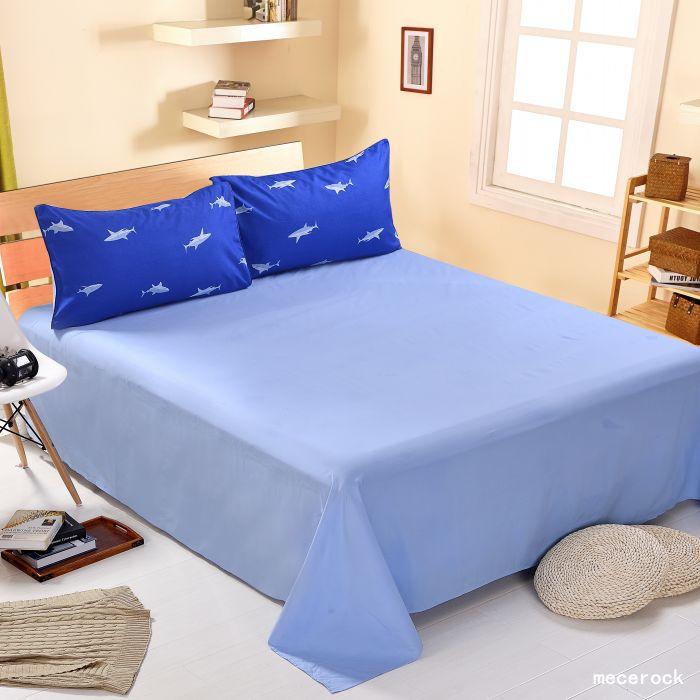 1db Cotton Blend luxus lapos lap szilárd színű ágynemű ágynemű - Lakástextil