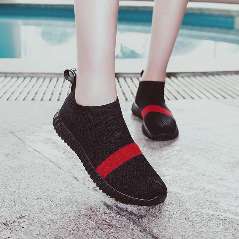 29b2e6d07 ... Bjakin Sock Women Running Shoes 2018 New Sport Shoes Sneakers Woman  Athletic Socks Breathable Walking Slip ...
