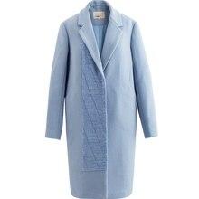 INMAN Women's Autumn Woolen Patchwork Coat Long Winter Tweed Coat(China)