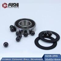 6206 Hybrid Ceramic Bearing 30 62 16 Mm ABEC 1 1 PC Industry Motor Spindle 6206HC