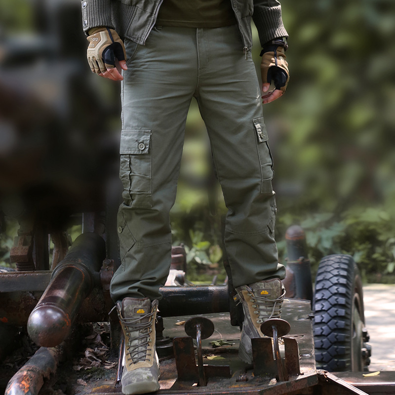 Mens Cargo Pants Military Style Tactical SWAT Combat Pants Male Casual Multi Pocket Paintball Work Long Trousers