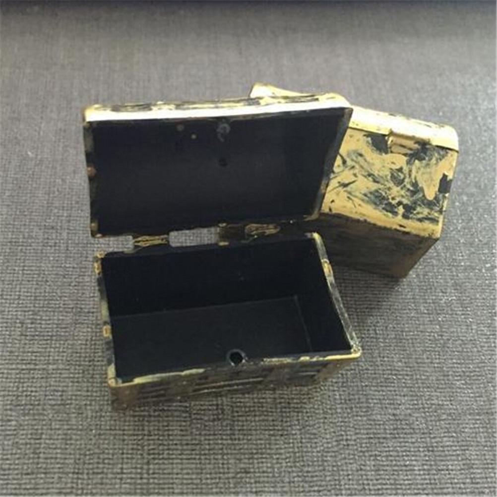 1//12 Dollhouse Mini Wooden Storage Jewellery Box Case Small Gift Vintage DECO