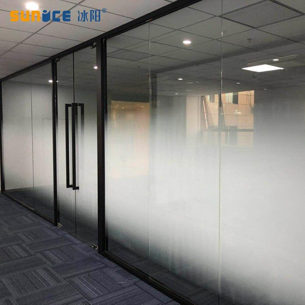 Sunice blanc Dots effet fenêtre Film Semi-intimité vinyle Film bureau salle de bains chambre magasin décoratif Film bricolage 183x1000cm