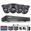 SANNCE Security Camera System 4ch 1080P CCTV System DVR DIY Kit 4 X 1080P Security Camera