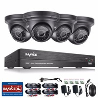 SANNCE Security Camera System 4ch 1080P CCTV System DVR DIY Kit 4 X 1080P Security Camera
