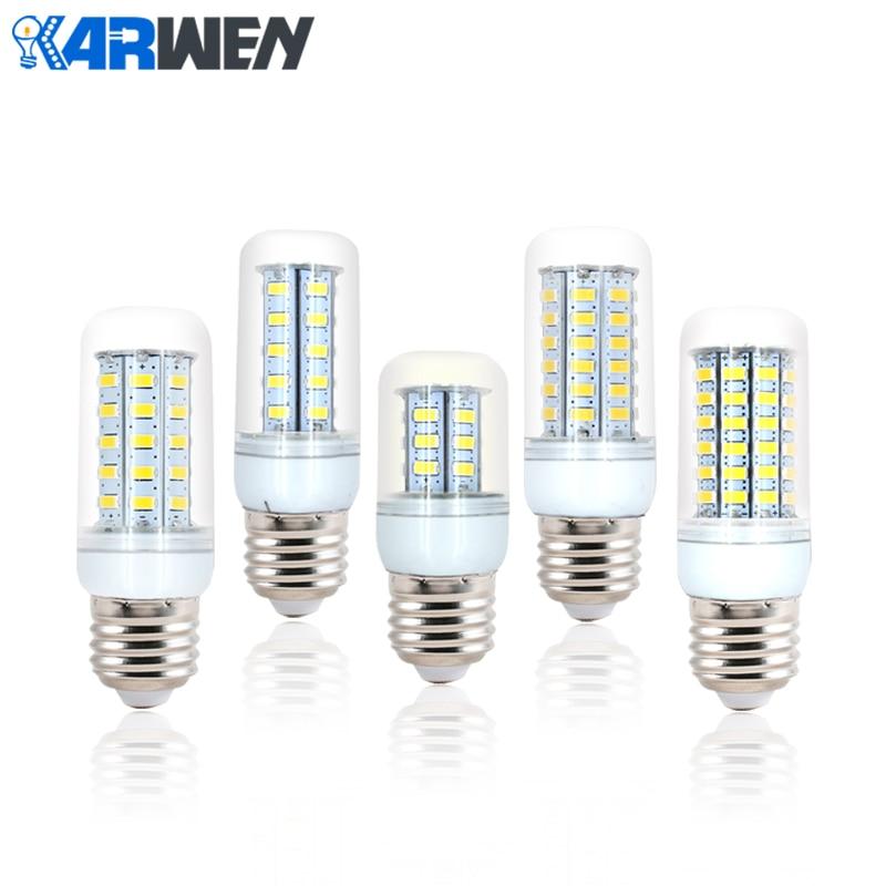 KARWEN LED Lamp E27 SMD 5730 220V 24 36 48 56 69 LEDs Chandelier Candle Lampada LED Light For Home Decoration Corn Bulb bombillas led bulb e27 smd led light lamparas 5730 24 36 48 56 69 72 81 89 led lampada ic led lamp e27 bulb candle 220 v