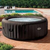 Автоматическая инфляция Семья 4 человек негабаритных Отопление Пузырь спа бассейн спа оздоровительный для ванной отдыха бассейны
