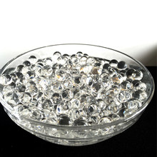 600 partículas por saco de cristal transparente contas água do solo orbiz lama crescer bolas geléia mágica casamento decoração para casa hidrogel