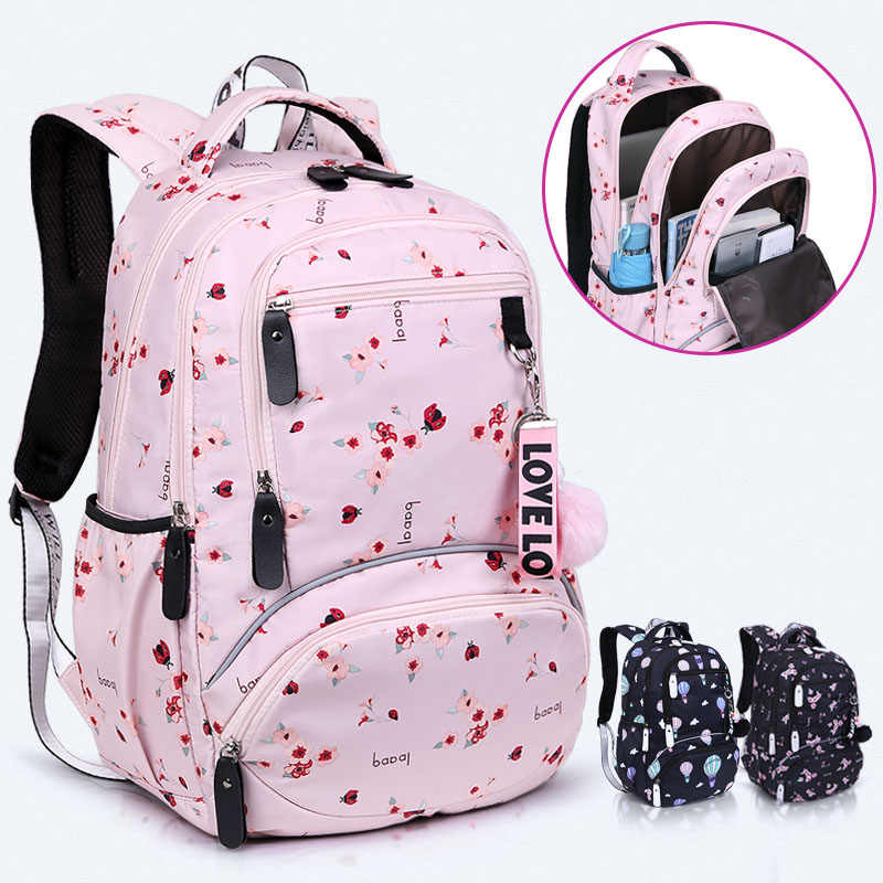 New Large schoolbag cute Student School Backpack Printed Waterproof bagpack primary school book bags for teenage girls kids