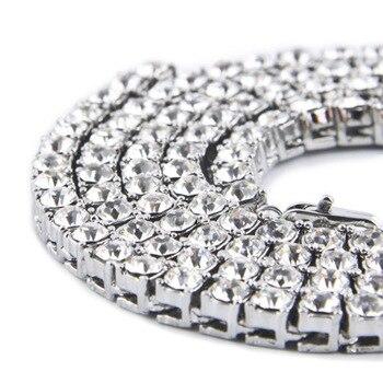 06c163dec68e 2019 Hip Hop Bling helado directo Cadena 1 Fila collares de la marca de  lujo de plata Negro hombres Cadena de Moda hombre joyas de diamantes de  imitación de ...