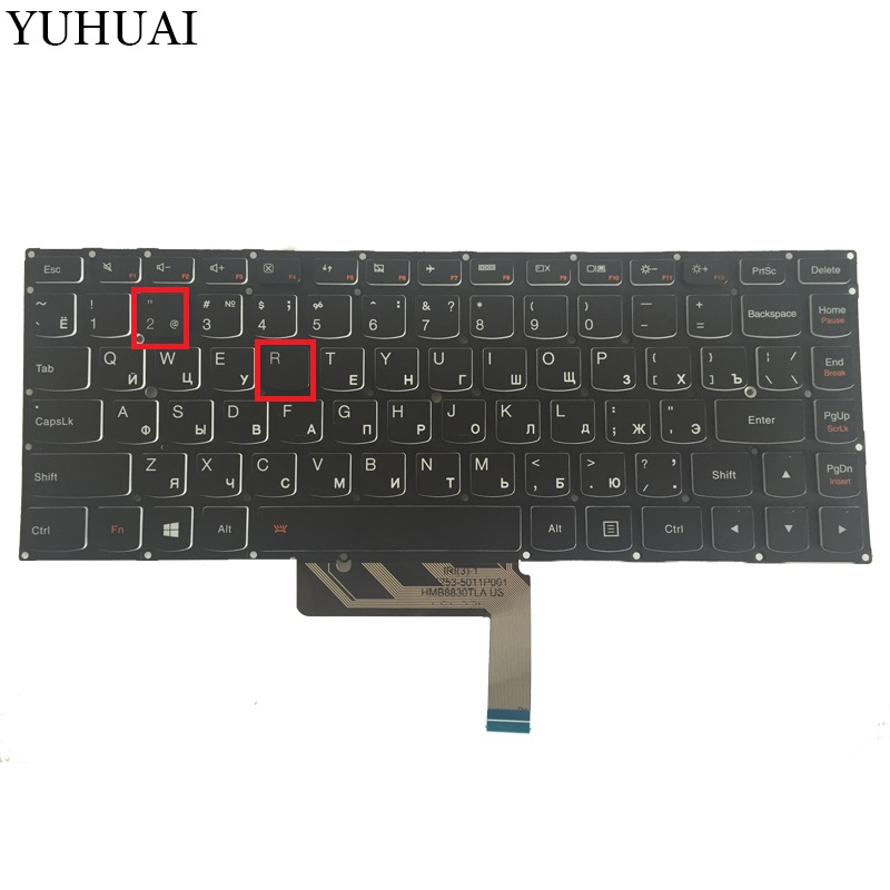 NEW Russian keyboard for Lenovo ThinkPad Yoga 4 PRO Yoga 900 backlit RU Laptop Keyboard new us laptop keyboard with backlit for lenovo yoga 14 thinkpad s3 series p n 00wh763 47m004d sn20f98414 cb 84us mp 14a83usj442