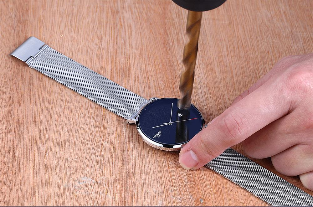 NIBOSI watch men black quartz wristwatches stainless steel mesh brand  watches men ultra thin quartz relogio masculino dourado (6)