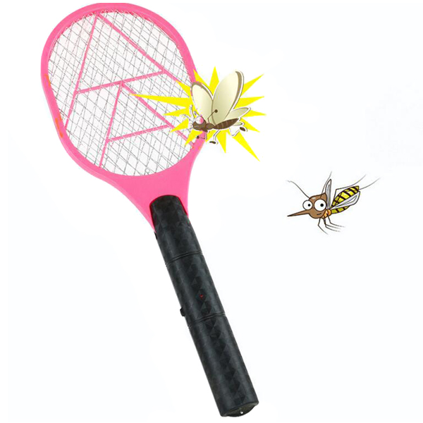 Hand Racket Electric Swatter Home Garden Insect Bug Bat Wasp Zapper Fly Mosquito