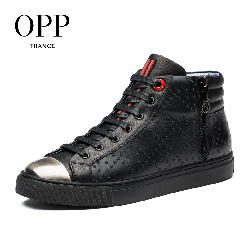 OPP 2017 Genuine Leather Men boots Men Shoes Winter Boots Comfortable Metal Toe Men Shoes Ankle Boots for men High Top Boots