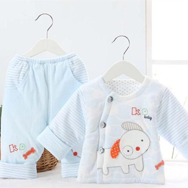 d83f8b5b5c baby underwear set pink sky blue gray cotton boy girl o-neck casual fashion  spring autumn trendy clothing store infant-clothing