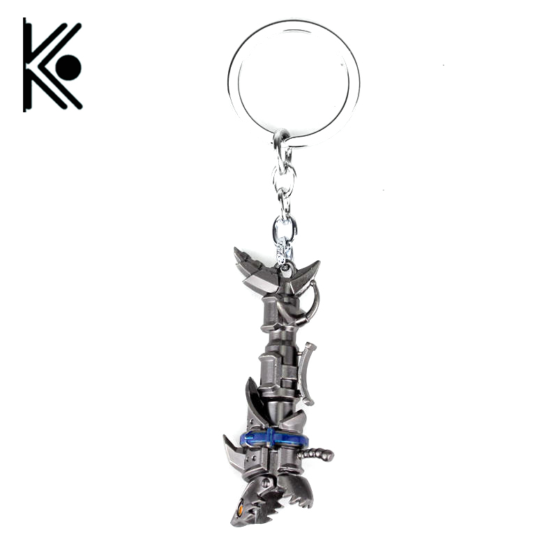 <font><b>League</b></font> <font><b>of</b></font> <font><b>Legends</b></font> jewelry LOL Jinx Darts Weapon keychain lol High quality Shells dota 2 Key chain 2*Style 7cm <font><b>Cosplay</b></font> Gift image