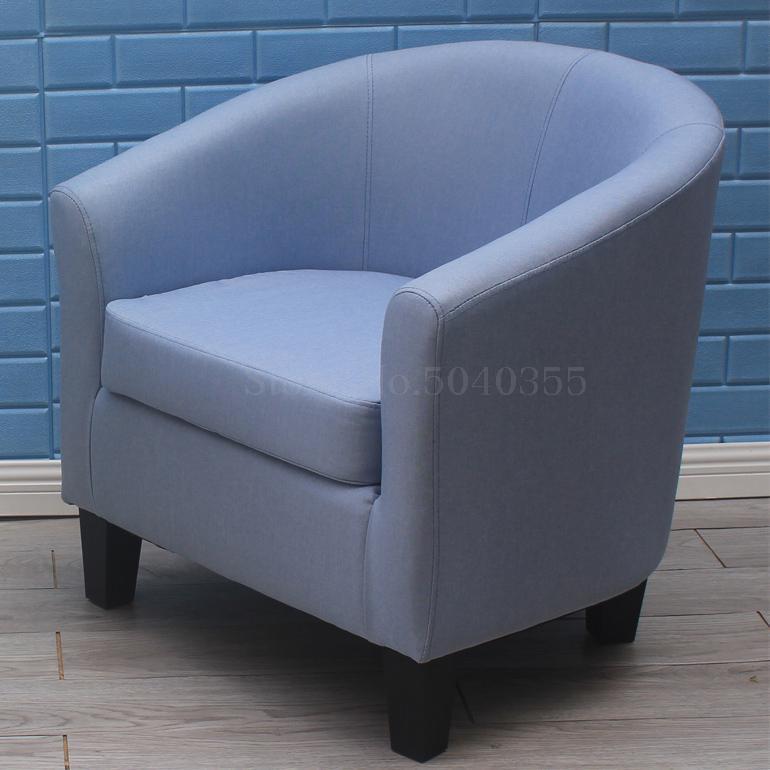 Европейский тканевая одноместная Софа стул интернет кафе кофе небольшой диван гостиничная комната кабинет компьютерный диван стул - Цвет: VIP 23
