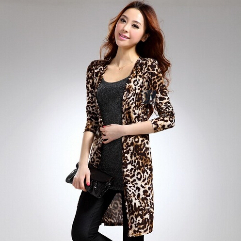 2015 new fashion casual summer leopard chiffon cardigans half ...