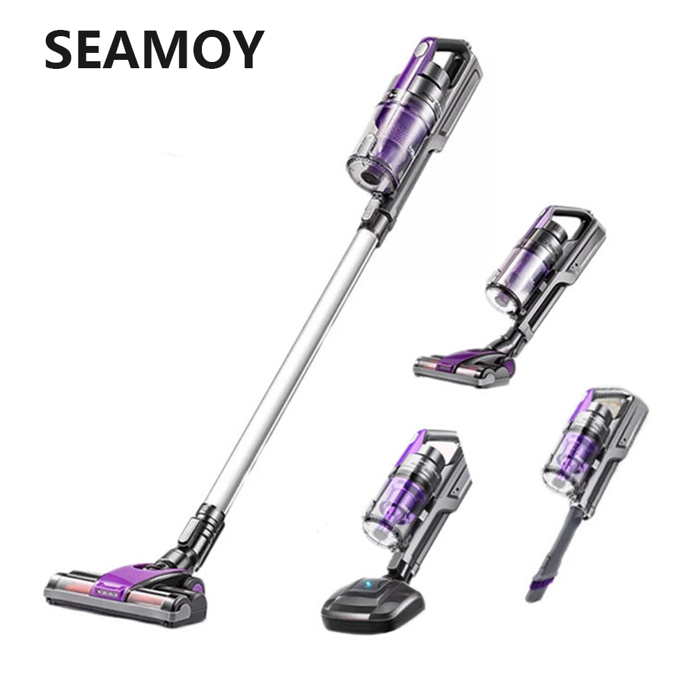 4 In 1 Handheld Cordless Vacuum Cleaner Strong Suction Dust Mites Collector Wireless Vacuum Cleaner With Wall Hanging Rack