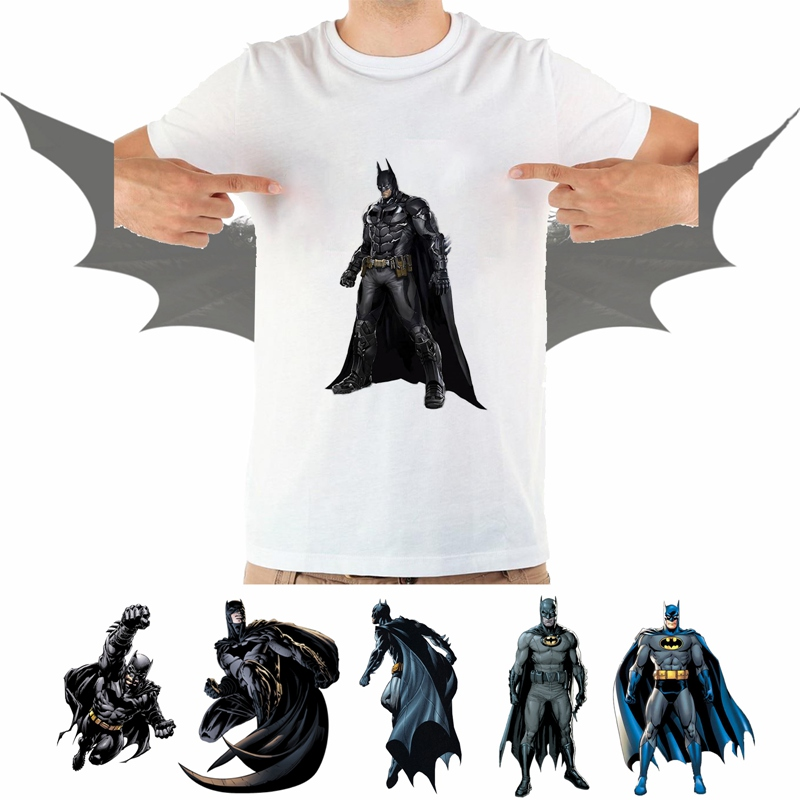 Printing DC Comics Super hero Batman Cool Pattern Summer Plus Size Loose O-NECK Modal Short Sleeve Mens Tshirt Fashion Casual