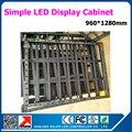 Крытый полу-открытый p10 p5 из светодиодов коллегия 960 * 1280 мм простой дисплей железный шкаф