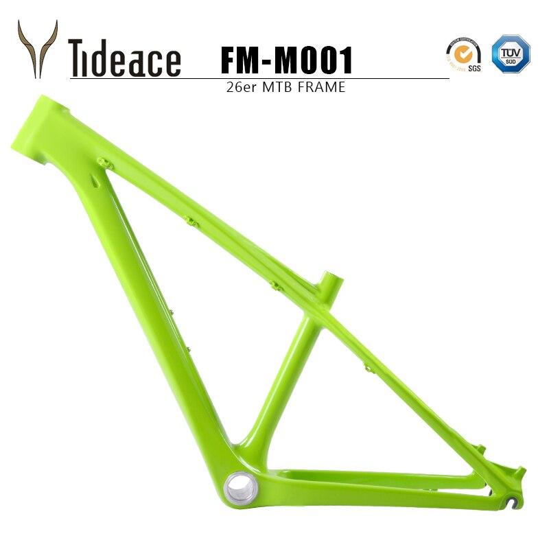 Tideace  MTB Frame 26er Mountain Bike Frame Carbon Fiber Bicycle Frame 16/17inch Bike Frame