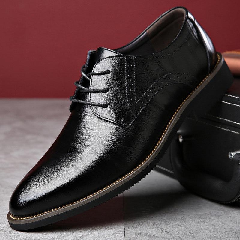 scarpe Brand Scarpe Uomo Luxury da Shoes Merkmak Coffee sposa Dress pelle Men Shoes Shoes Party Shoes Black Oxford blu Shoes Brown Vera formale Dress 5qxwSUz6x