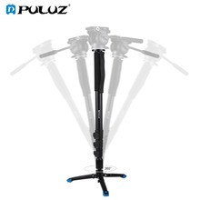 PULUZ Four-Section Telescoping Aluminum-magnesium Alloy Self-Standing Monopod with Support Base Tripod Bracket for DSLR Camera