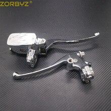 ZORBYZ 7/8 22mm Chrome Lenker Control Reservoir 14mm Bohrung Bremse Kupplung Hebel Für Kawasaki Honda Yamaha Suzuki