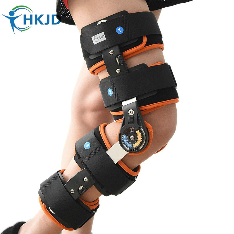 Orthopedic fixation Adjustable Knee brace hinged knee support Splint Stabilizer Wrap Sprain Post-Op Hemiplegia Fixation medical orthopedic hinged knee brace support adjustable splint stabilizer wrap sprain hemiplegia flexion extension