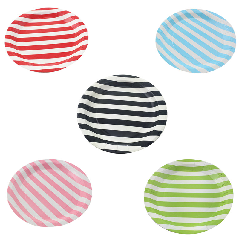 Free Shipping 70pcs rainbow colourful Paper plate Dishes Party /wedding Supplies decoration 9 inch
