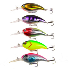 5 Pieces Crank Fishing Lure Wobblers Hard Bait Isca Artificial Pesca Tackle Crankbait #6 Fish Hooks 10cm 14g