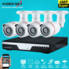New 4ch Super 4mp Full Hd Surveillance CCTV DVR H 264 Video Recorder AHD Outdoor Small