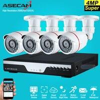 New 4ch Super 4mp Full Hd Surveillance CCTV DVR H 264 Video Recorder AHD Outdoor Small