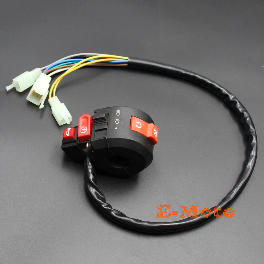 10 Wires ATV Kill Starter Light Horn Switch Assembly Sunl Roketa Coolster  50cc 70cc 90cc 110cc 125cc new E Moto-in Motorbike Ingition from  Automobiles ...
