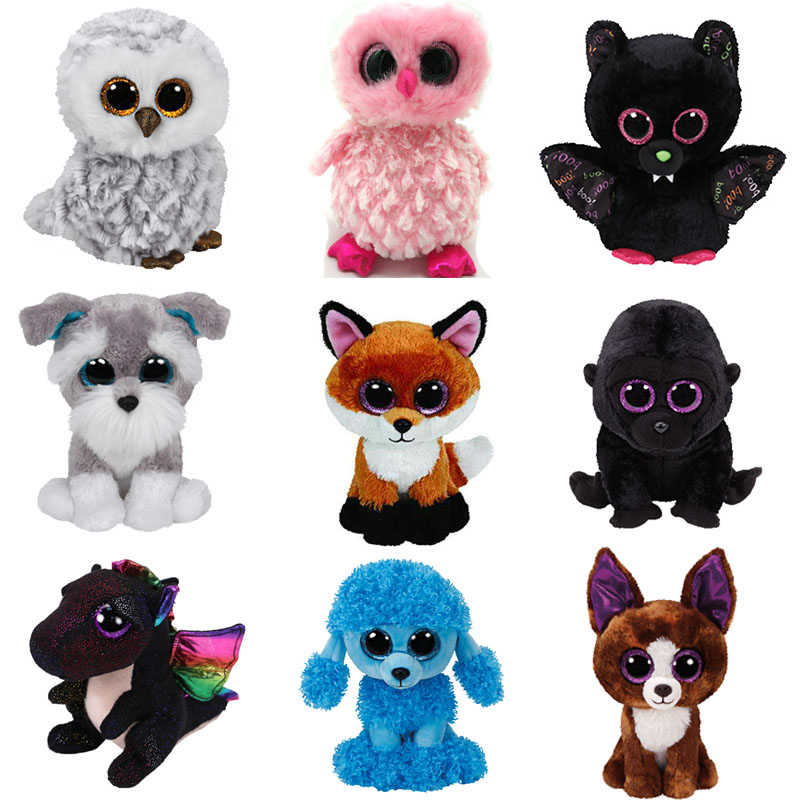 93a9d8eaea9 Selectable Styles 15cm Ty Beanie Boos Animal Cute Seal Fox Husky Dogs  Rabbit Soft beanie boo