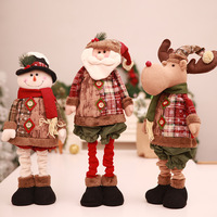 adjustable Standing santa claus Figurine merry christmas home mall Window decorations kids gift party favors Xmas happy new year