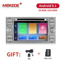 MEKEDE 2 din Android 9.1 Car DVD GPS For Ford Mondeo S max Focus C MAX Galaxy Fiesta transit Fusion Connect kuga DVD PLAYER