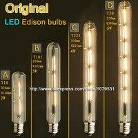 Vintage Flute LED Edison Light Bulb E27 2W 3W 4W 6W 110V 220V T10 T185 T225