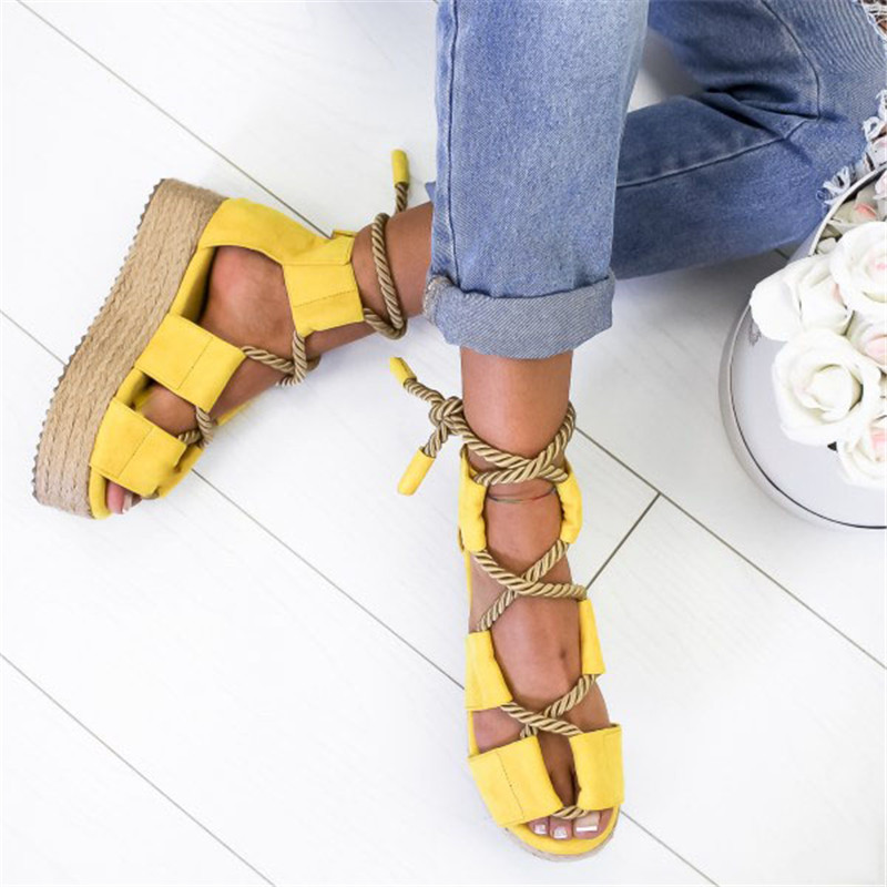 WENYUJH Women New Sandals Women  Heel Peep Toe  Up Sandals Shoes Torridity Beach Boho Sexy Gladiator Sandals Shoes 2019