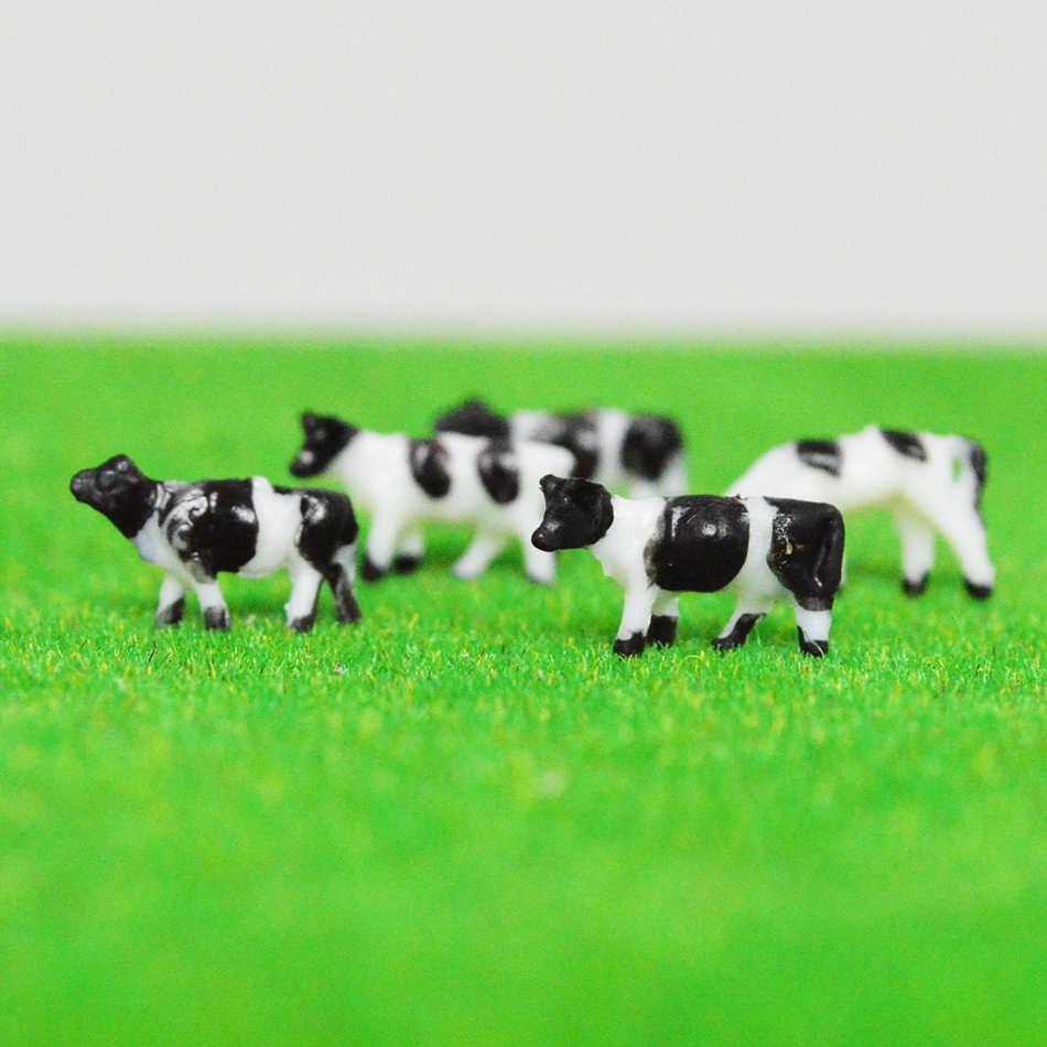 Хо масштаб 1: 87 Модель коровы Миниатюрная модель животного на ферме корова для модели железной дороги макет
