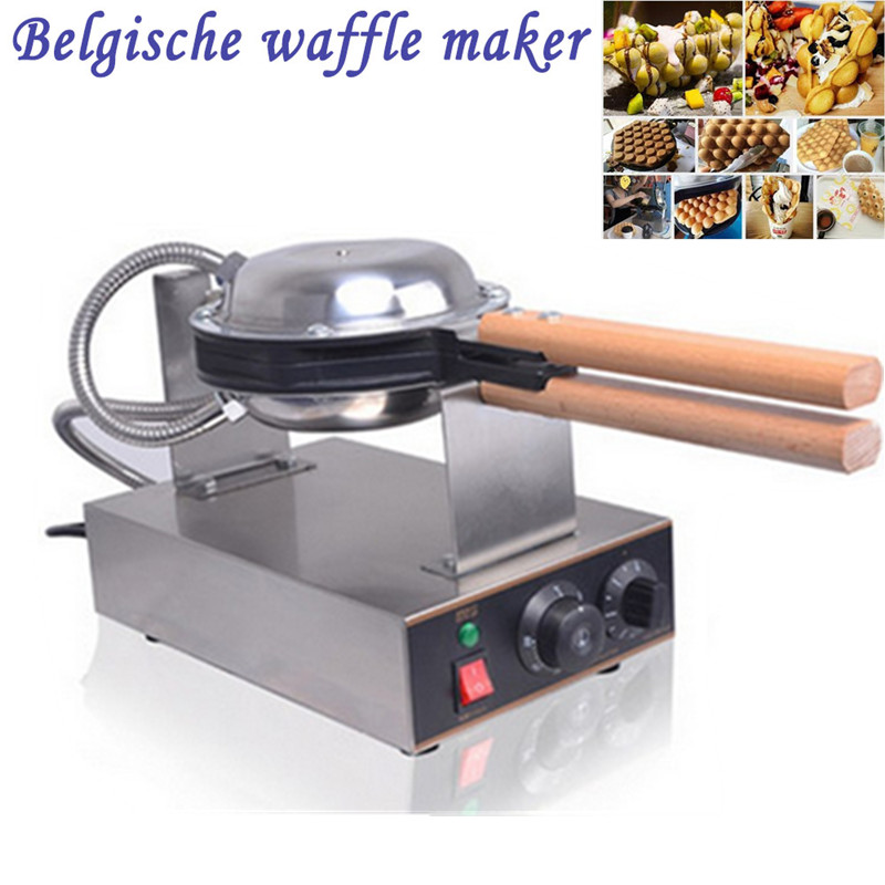 Фотография Commercial Electric Chinese Hong Kong Eggettes Puff Egg Waffle Iron Maker Machine Bubble Egg Cake Oven  220V/110V Available