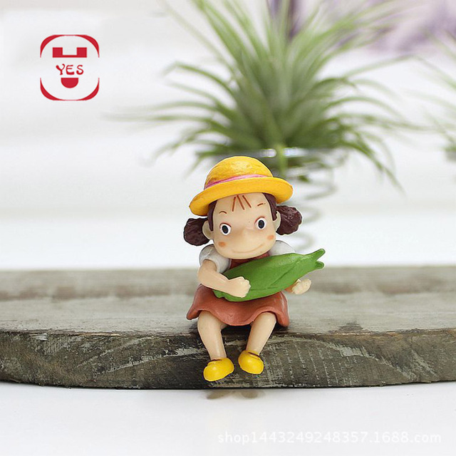 YES My Neighbor Totoro Xiaomei Dead Wood Dry Branches Miniatures Fairy Garden Decoration Resin Crafts DIY Moss Micro Landscape 4
